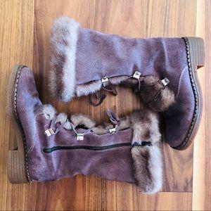 Vintage Faux Fur Austrian Boots